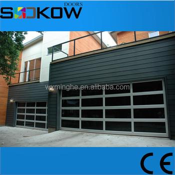 Transpa Gl Sectional Garage Door Factory Price Aluminum Frame