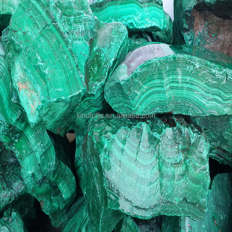 natural raw rough malachite stone malachite gemstone