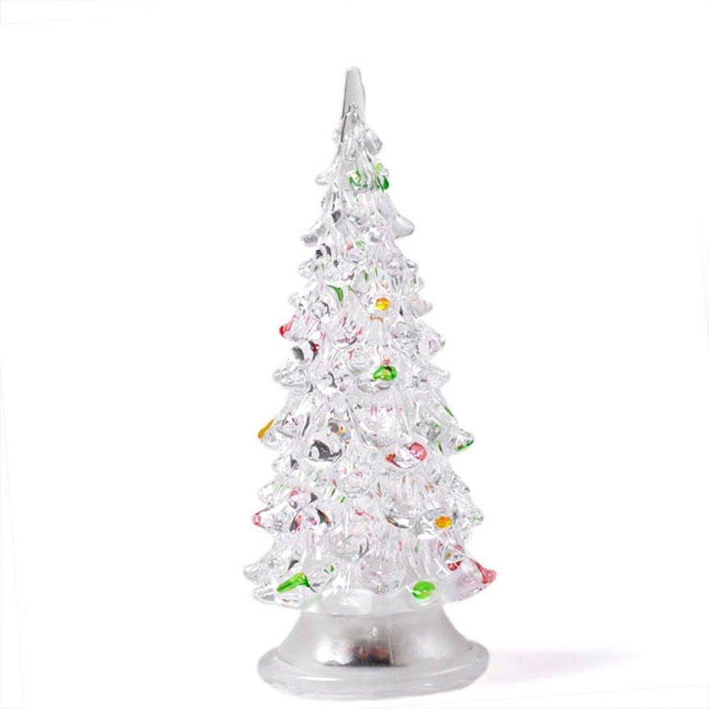 Yoption LED Christmas Tree Topper Light Mini Christmas Tree Treetop Light Xmas Decor Tree Decorations Ornaments Changing Light lamp (Christmas tree)