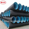 HDPE double wall 300mm corrugated drainage pipes SN4 SN8 pe drain pipe