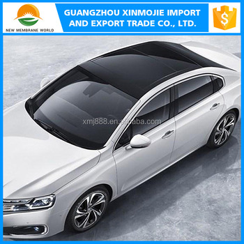Black Car Roof Pvc Vinyl Film Gloss Surface Motor Wrapper Film