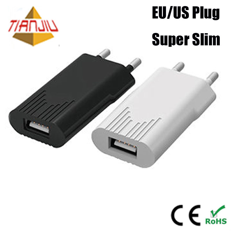 CE RoHS 5 V 1A travel USB wall charger untuk iPhone/Samsung/ponsel