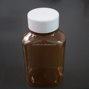 120ml pharmaceutical amber & clear oval oral liquid PET bottle