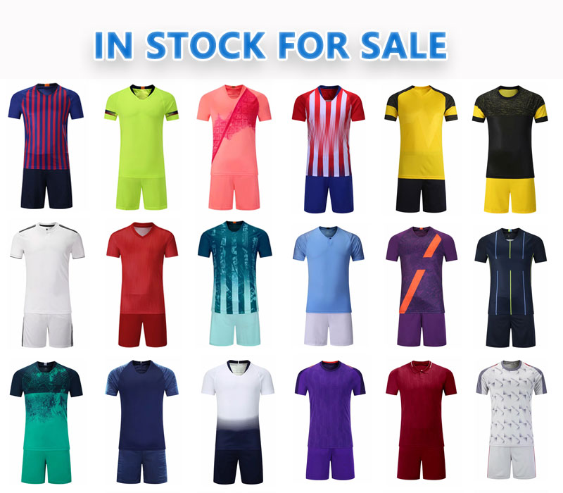Groothandel china t-shirts voetbal teams 2019 2020 dybala ronaldo custom voetbal kit jersey uniform nieuwe model