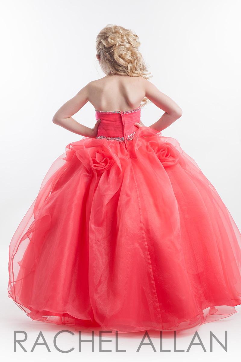 Arc-13 Romantic Rose Patterns Peach Flower Girl Dress Full Length ...