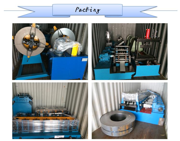 Main Motor 5.5KW Good Shelves Rack Pillar Beam Roll Forming Machine