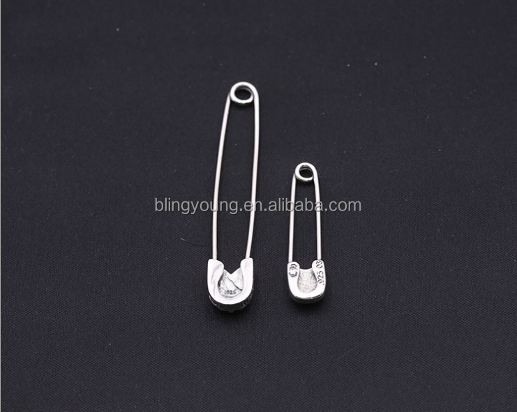 Factory custom brooch accessory decoration 925 silver safety pin