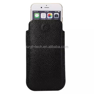 Universal mobile phone Lichee Texture Genuine Leather Pouch,leather sleeve bag for iphone 6/6s multi colors