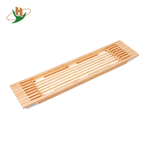 Cheap bamboo caddy organizer bath tub tray for wholesale
