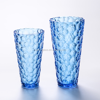Cheap Blue Red Conical Flower Glass Vases In Bulk Home Decor