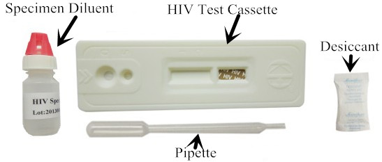 Does HIV show in a blood test?
