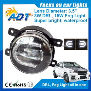 FIT Freelander 02-06 3.5 inch FOG/DRL WHITE automotive LED lamp for RANG ROVER 03-05