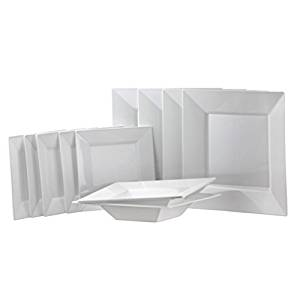 Square White Plastic Party Set! Includes 9.5\  Dinner Plates 6.5 Salad Plate   sc 1 st  Alibaba & Cheap Square White Plate Set find Square White Plate Set deals on ...