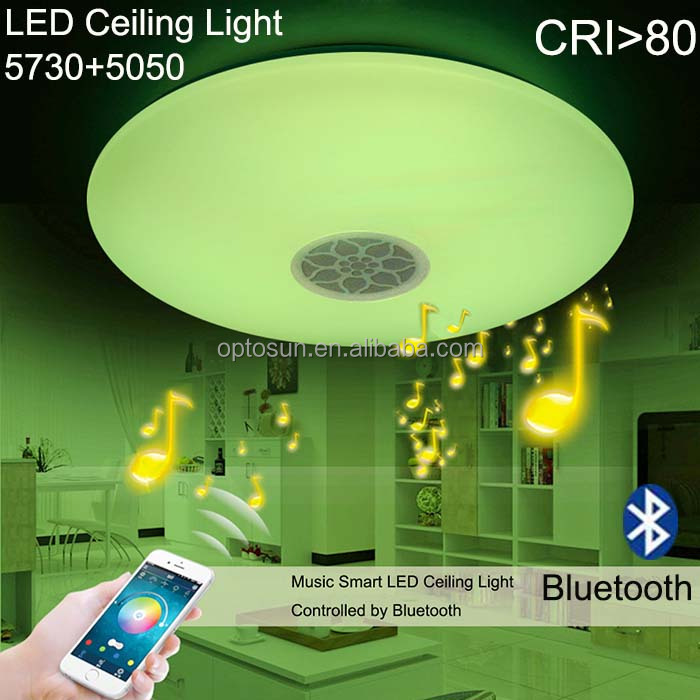 Bathroom Ceiling Lights Bluetooth Speaker 24w Led Ceiling Light ...