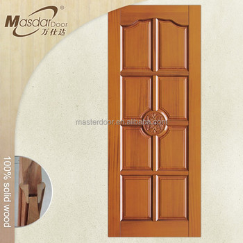 Great Italy 8 Ft Interior Solid Wood Door Carving Design