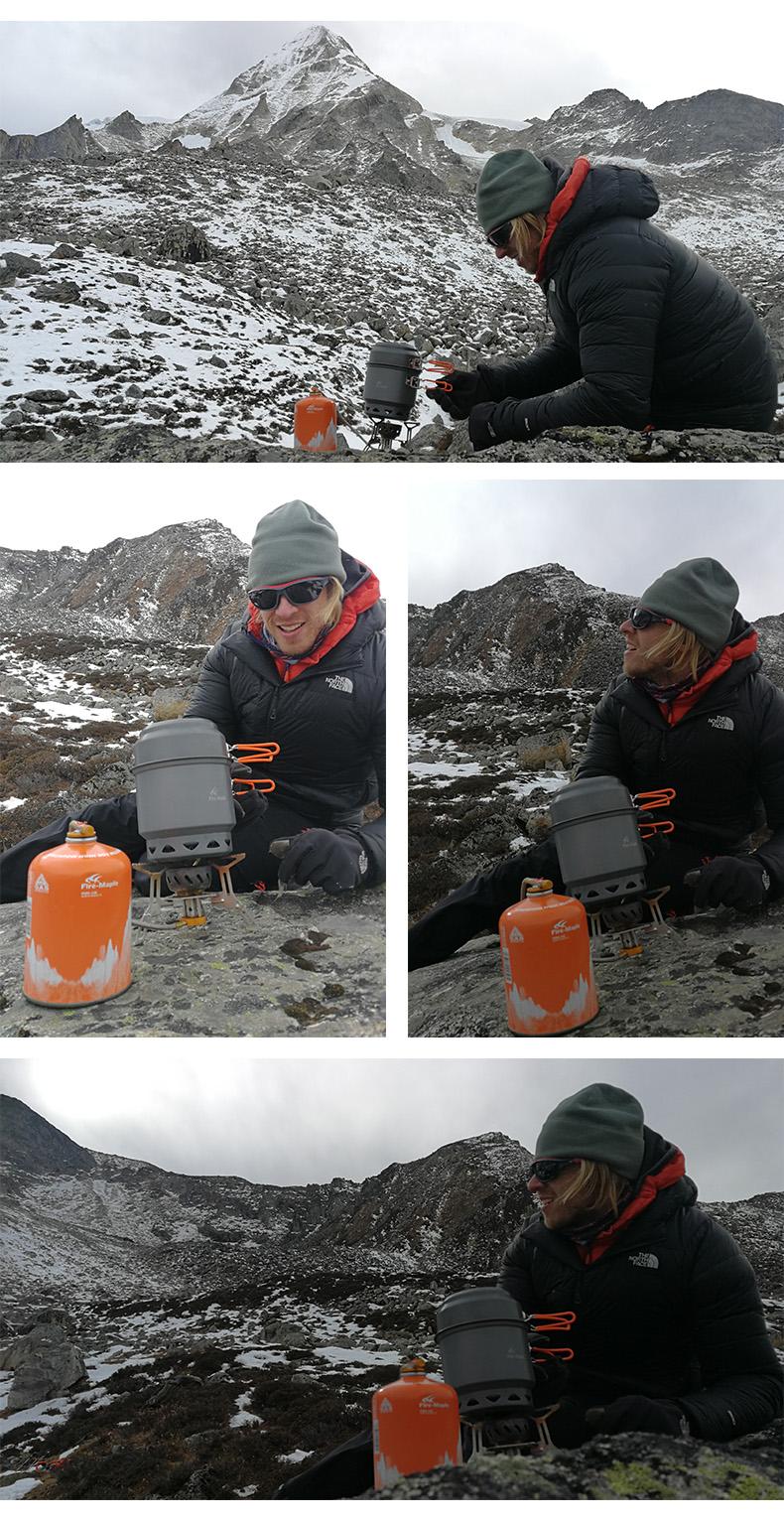 ar livre acampamento dobrável trocador de calor