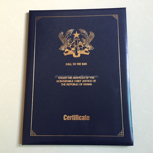 Custom plastic certificate holder leather diploma cover