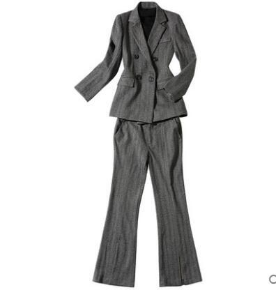 54de82705dce 2019 nuevo estilo sexy formal negocios señoras de trabajo Oficina trajes  para mujeres jóvenes