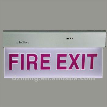 led brand verlichting nooduitgang licht