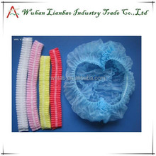 2015 Hot selling 6 Colors for choice Colorful Disposable Non-woven Surgical Caps Disposable Cap For Hospital Bouffant Cap