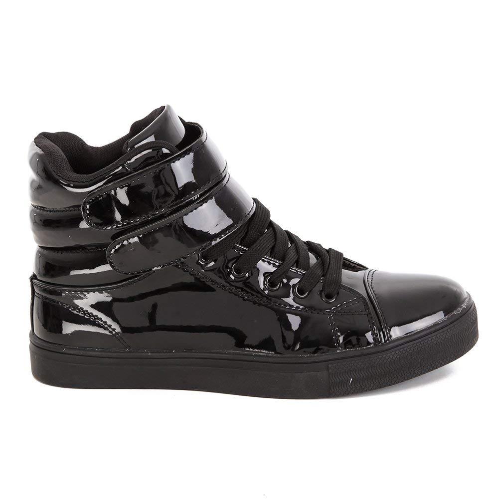 Get Quotations · Alexandra Collection Womens Liquid Shiny High Top Hip Hop  Dance Sneakers 4fa66ca76