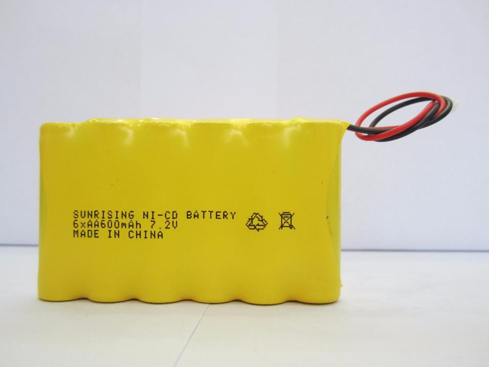 Ni-cd Aa 600mah 7.2v Rechargeable Battery Nicd Aa 600mah 1.2v ...