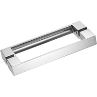 Standard or Custom Pull Shower Glass Room Strip Door Handle Modern Solid Brass Shower Door Handle