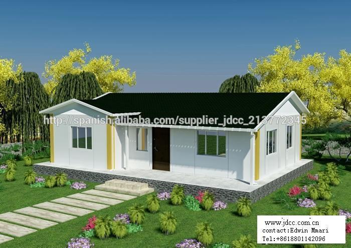 De acero de color de bajo coste panel s ndwich casa - Casa prefabricada acero ...