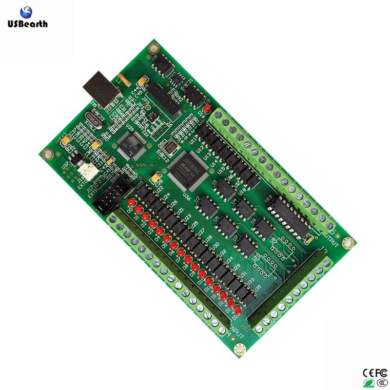 Free shipping 3 axis 4 axis CNC Motion Controller USB Card Mach3 200KHz Breakout Board Interface