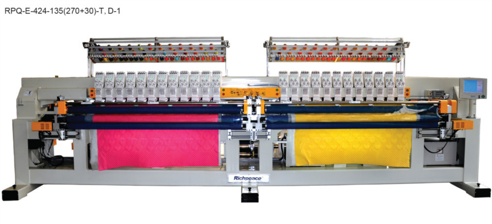 Richpeace Multi-color Bed Sheet Making  Production Quilting Embroidery Machine