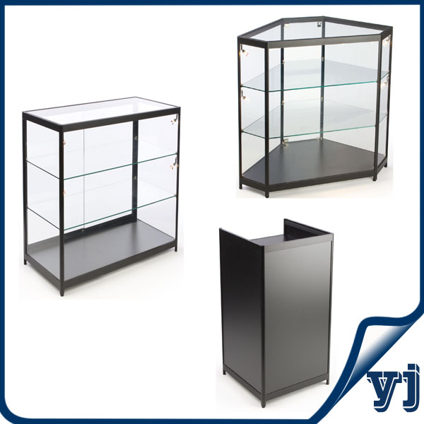 Free Standing Lockable Gl Display Cabinets Tower Vitrine Cabinet Case