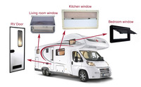 RV transparent and breathable Window, RV caravan Extrapolated window for sale & travel trailer emergency exit window