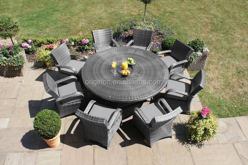 Elegante 8 Plazas Jardín Mesa De Comedor Y Sillas De Mimbre Fuente Mundial Internacional Patio Muebles - Buy Fuente Mundial Internacional Patio ...
