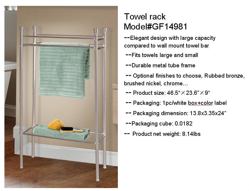 Durable Stahlrohrrahmen 2-lagen Handtuchhalter Stahl Regale Draht ...