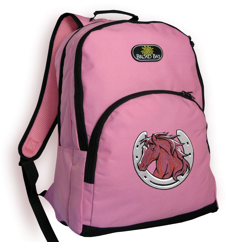 1c5deaf580 Get Quotations · Horse Theme Backpack CUTE PINK Horse design School Bag -  Travel Bag