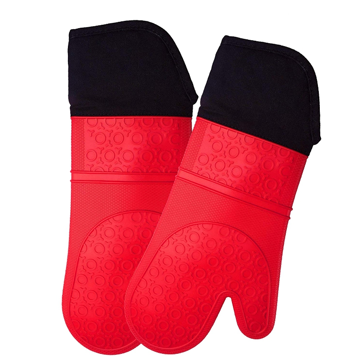 Kitchen tool heat resistant oven mitt silicone baking gloves