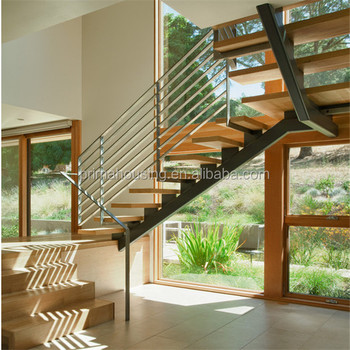 Stainless Steel Cable Railing Teak Wood Exterior Staircase   Buy Exterior  Staircase,Rubber Wood Staircases,Acacia Wood Stair Treads Product On ...