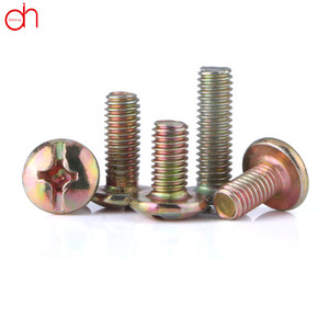 Slotted And Phillips Round Head Combination Head Screw