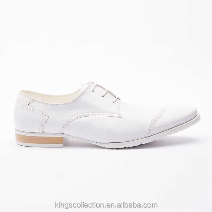 Factory Designer Classic Plain Oxford Comfortable Geniune Leather White Man Wedding Shoes