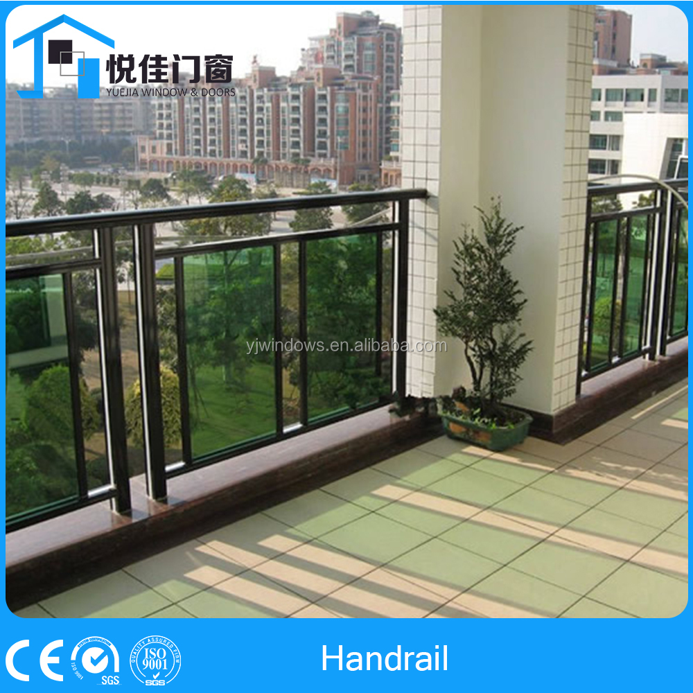 Firm Quality Aluminum Stair Railing With Glass Aluminum Railing Parts
