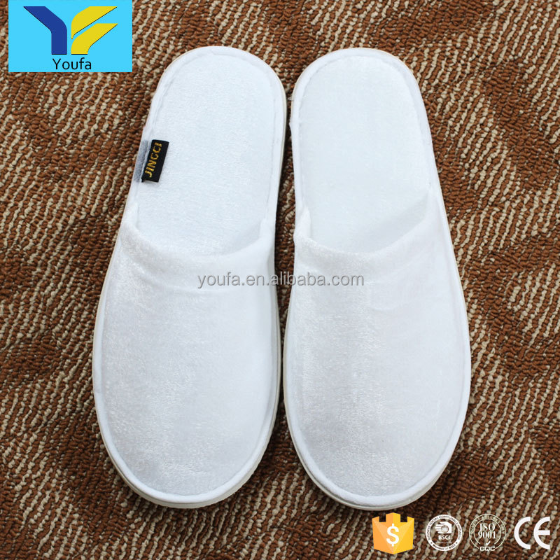 Guangzhou wholesale custom terry cotton slipper shower room disposable hotel bathroom slippers