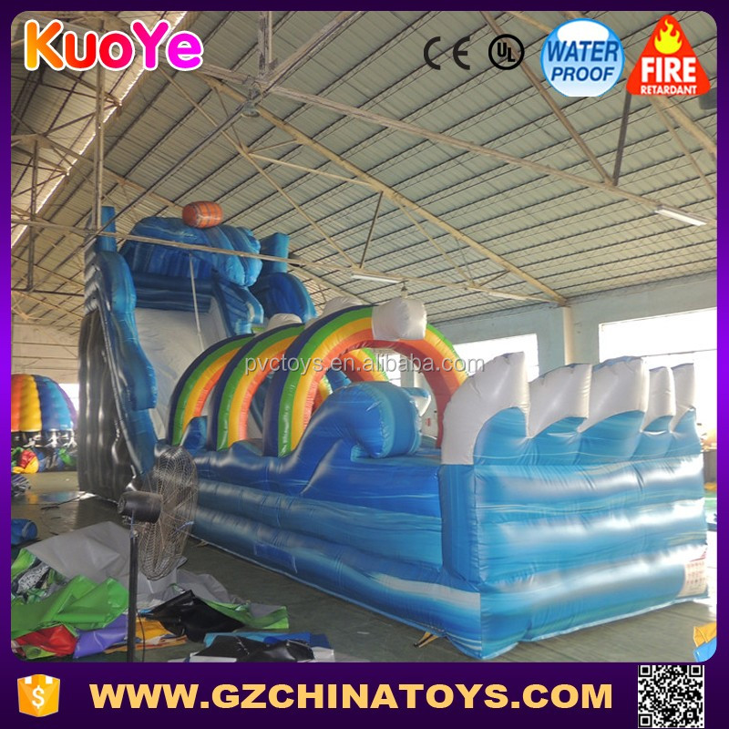 cheap big inflatable water pvc slide with EN 14960