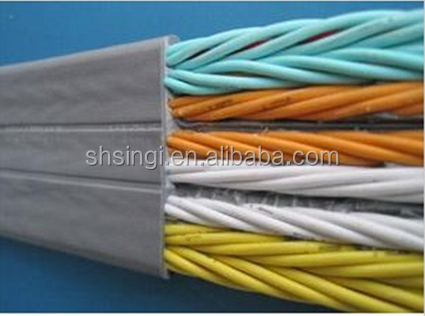 Reasonable price 71floors hot selling TVVB flat elevator cable