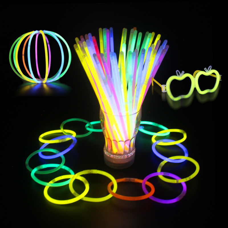 Multi color glowing stick Party Light Bracelet Glow sticks light stick glow in the dark Event Festival
