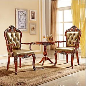 Antique Style Italian small table, 100% Solid Wood Italy Style Luxury tea Table Set pfy701