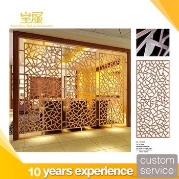 High End Customize Laser Cut Stainless Steel Metal 3 Panel Room