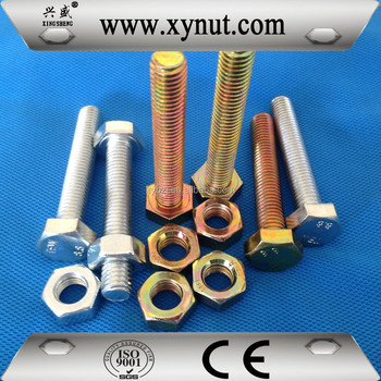 China factory directory sale Din933 Din931 gr8.8 gr4.8 zinc plated m30 hex bolt