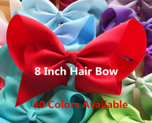 8 inch Super Large hair bow WITH extra large clips 40 Colors Available Girl Boutique bow