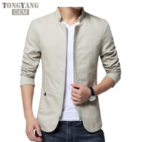 TONGYANG 2018 brand men spring autumn casual jacket men's Slim fit cotton jacket and coat Mens stander collar jacket veste