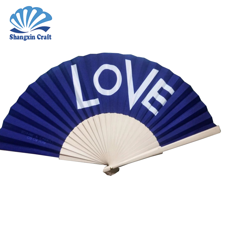 Event & Party supplies houten frame stof gedrukt Custom made hand fans
